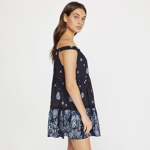 FP Talk To Me Trapeze Off-The-Shoulder Slip Dress